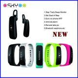 2 in 1 Dual Chip Bluetooth Earphone Smart Bracelet Calorie Pedometer
