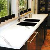 161215 personalizou a bancada branca de superfície contínua da cozinha de Corian