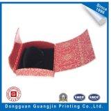 Rectángulo de empaquetado plegable de lujo de Jewellry de la cartulina de papel