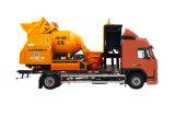 Carro móvil del mezclador concreto con la bomba