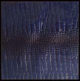 Espessura do teste padrão de Snakeskin 1.2 milímetros de couro do PVC, couro sintético para o saco de mão