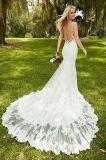 Mermaid мантии шнурка Halter Bridal отбортовывает Backless платье венчания S20175