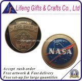 Pièces de monnaie faites sur commande de projet de gouvernement de la NASA