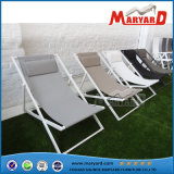 Outdoor Patio Furniture Aço inoxidável Folding Leisure Sling Sun Lounger