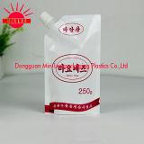¡Alta calidad! el papel de aluminio 1L se levanta la bolsa con el canalón de la esquina (DQ0236)