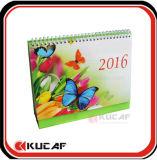 フルカラーの印刷された表のカレンダの月例卓上カレンダー