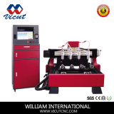 Máquina de madeira de Engrarving do router do CNC do cilindro com cabeça giratória (VCT-1590R-4H)