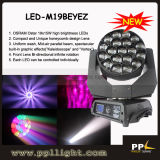 luz principal movente do feixe do diodo emissor de luz do olho da abelha de 19PCS 15W com zoom