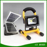 2 anos de luz de inundação portátil do diodo emissor de luz 10W da garantia com o painel psto solar