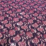 Laço elástico superior do nylon do estiramento da alta qualidade de matéria têxtil da tela do laço