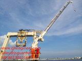 シンガポールの造船所2t22mのための望遠鏡油圧海洋クレーン
