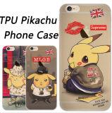 塗るかわいい帽子の酔いのリップのPikachu TPUの携帯電話の箱(XSCH-001)