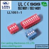 4 Abstand-rote/blaue/schwarze Farbe des Methoden-Schalter-2.54mm