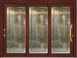 Alumínio de bronze Windows deslizante da cor da alta qualidade e portas FT-D126 com projeto da grade