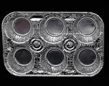 6 تجويف [ألومينيوم فويل] فطيرة وعاء صندوق