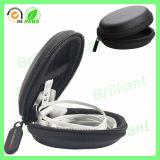 Caixa impermeável do fone de ouvido de EVA com couro do plutônio (EC002)