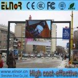 Rua que anuncia a placa de tela video ao ar livre do diodo emissor de luz P6