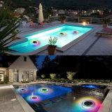 La couleur de RVB et les IP68 à télécommande imperméabilisent la lumière de flottement légère décorative solaire de DEL pour le jardin de piscine et l'usager extérieur