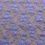衣服および衣類のための紫色のナイロン伸張のボイルのレースファブリック