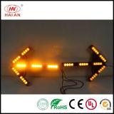 トラフィックの表示器LEDのこはく色の矢の形ランプの警告の方向ライト信号