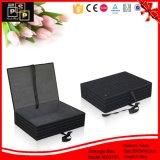 黒い毛織の物質的で贅沢で敏感なギフトの荷箱