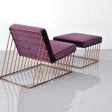 Presidenza di salotto domestica moderna del tessuto della mobilia di disegno con il piedino del metallo