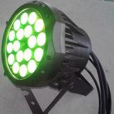 IP65 lumière extérieure de PARITÉ de l'aluminium 18X10W RGBW DEL