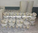 Glatte weiße Vasen des ovalen Innendekor-Fo-272
