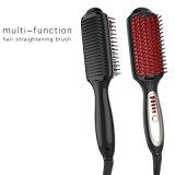 Enderezadora del pelo del salón con el peine eléctrico de la proteína de la visualización del LCD