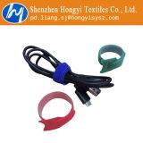 Weiße mehrfachverwendbare Haken-und Schleifen-Kabel-Verpackung