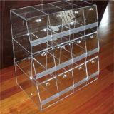 Étalage acrylique en gros pour la sucrerie, boîte de présentation de sucrerie