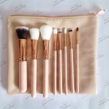 8piece Vegan 100% Rose Gold Makeup Brush Set (ST0804)
