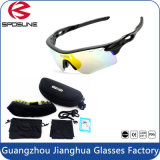 Lente permutável de ciclagem polarizada anti brilho da lente dos óculos de sol 5 do esporte do estilo da juventude forte