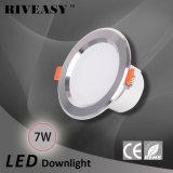 7W diodo emissor de luz Downlight de 3.5 polegadas iluminam-se para baixo com a lâmpada do teto de Ce&RoHS