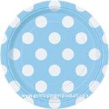 De hete Kleuren van de Verkoop met de Witte Platen van het Diner van Stippen