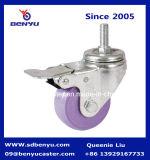 Zink-oder Chrom-Metall repariertes Montierungs-Fußrollen-Rad