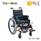 Cadeira de rodas de dobramento manual das crianças de alumínio de Topmedi