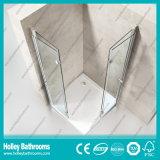 Porte pliable à charnière Quincaillerie en acier inoxydable Cabine de douche simple en aluminium (SE704C)