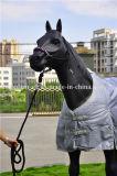 Braided Halter лошади PP с концом кожаный прокладки руководства