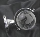 Globo terrestre cristalino de la tierra del regalo de cristal claro delicado de la promoción