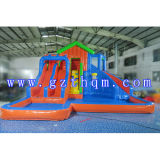 Pool/Inflatable Slide GamesのHigh 10メートルのAdults Giant Inflatable Water Slide