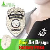 도매 복수자 MOQ 없이 최고 조직적인 금속 접어젖힌 옷깃 Pin 또는 기장