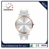 カスタマイズされた細い水晶カップルの恋人の腕時計かステンレス鋼の背部男女兼用の腕時計