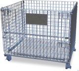 De stapelbare Container van het Netwerk van de Draad van het Metaal