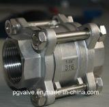 CF8 Kugelventil des Weibchen-Ss304 3PC mit API 6D