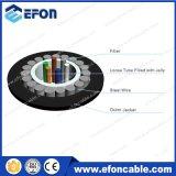 Acero al aire libre alambre 6/12 núcleo monomodo cable de fibra óptica