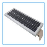 옥외 점화를 위한 1개의 태양 LED 가로등에서 세륨 RoHS FCC 50W 전부
