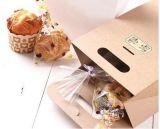 Bolso de la panadería del papel de Kraft de la parte inferior plana de la categoría alimenticia de los fabricantes de China