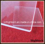 Tarjeta grande del vidrio de cuarzo de la silicona del polaco del claro de la talla