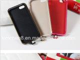 Aluminio sin hilos del cuero de la cubierta de la caja del teléfono del receptor del cargador de Qi para el iPhone 5/5s